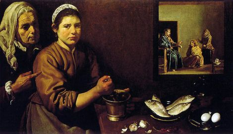 Christ in the House of Martha and Mary [Diego Velaquez]
